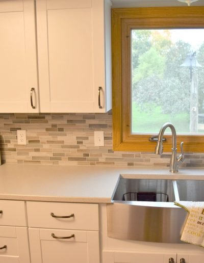 White & Silver Kitchen Remodel